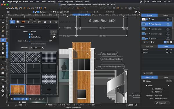 HighDesign 2017.2 main window UI