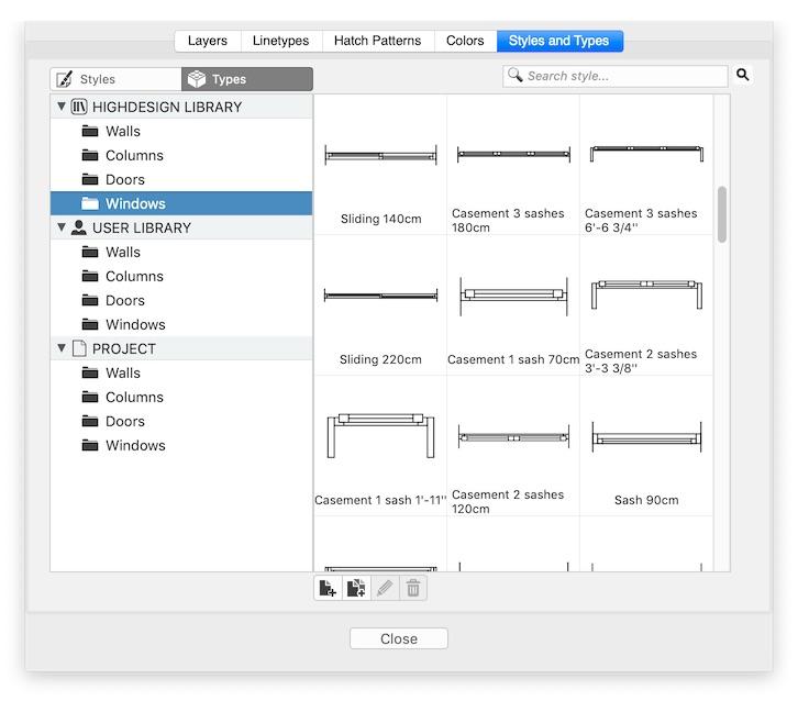 HighDesign R5 Window types