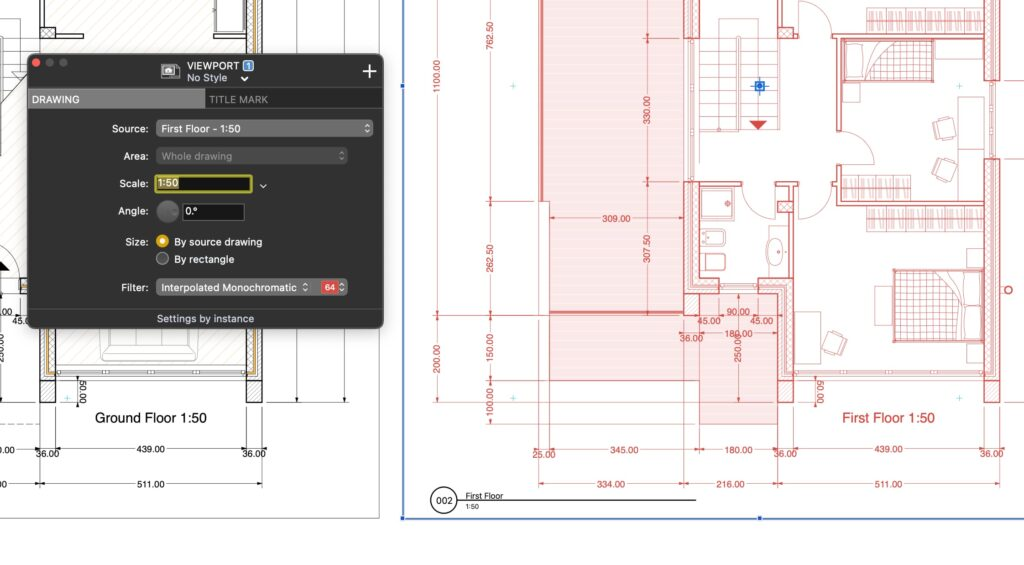 A selected viewport in HighDesign R6.